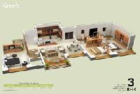 In apartment- 3 BHK flat on rent-