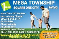 Residential Plots In Mega Township Square One City On Patna Bakhtiyarpur Four Lane Near Fatuha