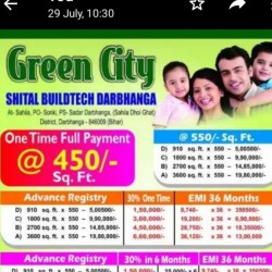 Residential Plots Sale In Darbhanga 910,1800,2700,3600 Sq.fit. Sahila,donar,darbhanga