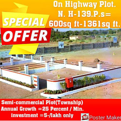 On Highway Plot For Sale In City