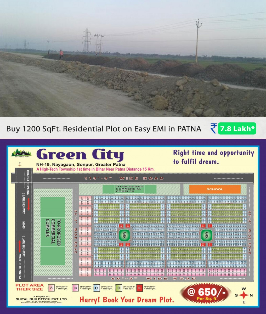 Residential Plot For Sale At Greater Patna On Easy Emi @ 7.8 Lakh Call On 9155232710