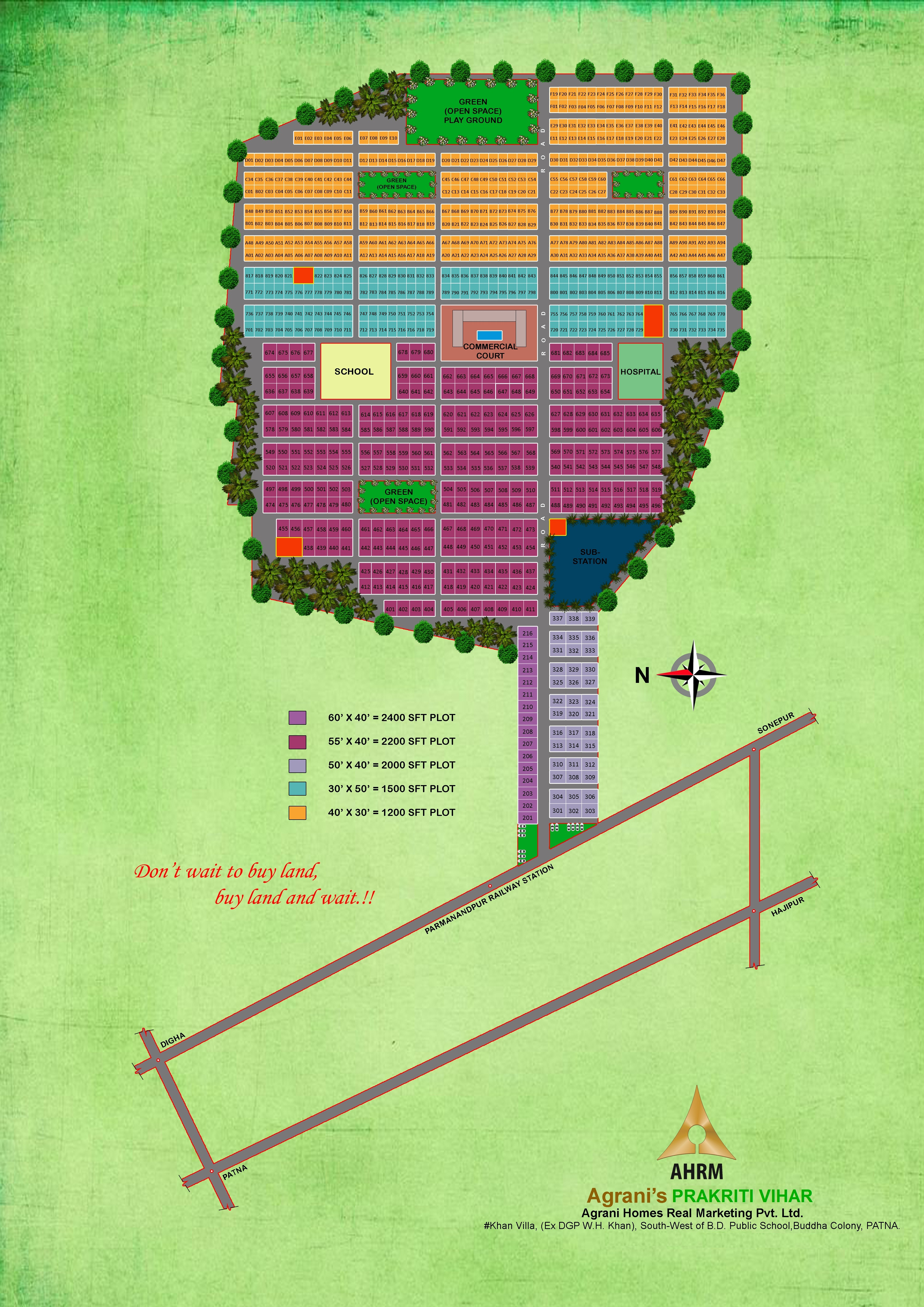 Plot In Gretar Patna For Digha -sonpur 4lane