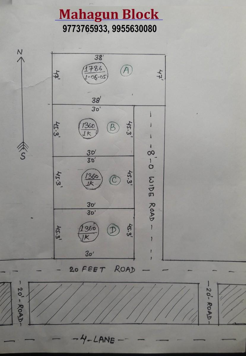 Mahagun Block  4 Lane Near Sandha Chapra Rs 660 Per Sqft