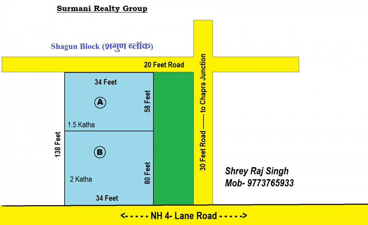 Plot For Sale On Nh 4 Lane Road 2 Side Road